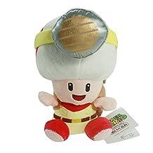 Super Mario Sitting Captain Toad soft Plush Stuffed Animals Doll Kids Toys 19 Cm
