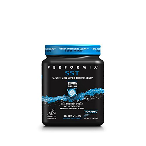 PERFORMIX SST Suspension Super Thermogenic Powder - 3 Patented Ingredients - Enhanced Flavor (Iceberry) - Multi-phase Release for Easy Absorption - Energy, Fat Burner, 30 Servings (Creatine Super Powder)