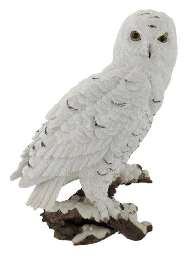 Snowy Owls (Beautiful Snowy Owl on a Branch Statue)