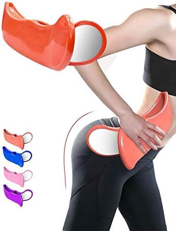 Pelvic Floor Muscle Inner Thigh Exerciser Strengthens Thighs Buttocks Improves Bladder Control Fitness Exercise PVC Super Kegel (Orange)