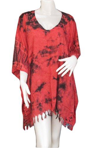 Georgette Mirror - FREE SIZE Butterfly Style Tie Dye Embroidered Mirror Velvet/Georgette Womens