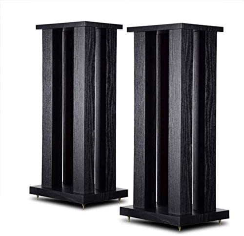 Speaker stand Board package Center surround bookcase shelf Suitable for speakers less than 12 inch (Color: Black Size: 21 27 60cm)