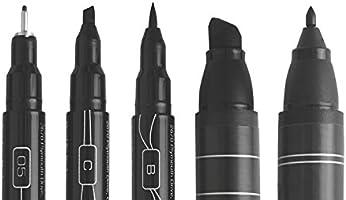 8 Count Eraser and Tips Pamphlet Art Markers Prismacolor Premier Beginner Hand Lettering Set with Illustration Markers Pencils