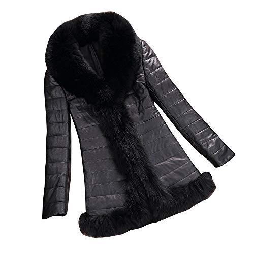 Chaud Noir Cuir Veste Manteau Pardessus Bringbring en Hiver Parka Outwear Blouson Outwear Femme PU OnqBxAS6