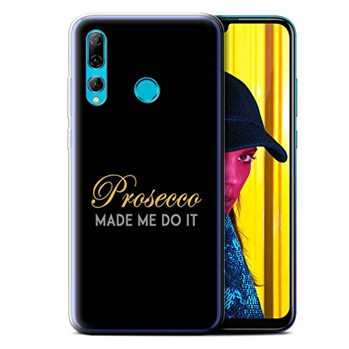 eSwish Gel TPU Phone Case/Cover for Huawei P Smart+ 2019/Honor 20 Lite/Made Me Do It/Black Design/Prosecco Fashion Collection