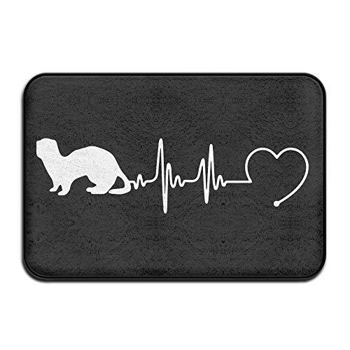 - Kunndoormatsh Ferrets Heartbeat Non-Slip Indoor/Outdoor Door Mat Rug for Health and Wellness Toilet Bathroom Doormat 23.6