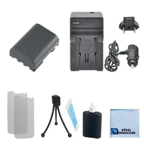 300i Memory (NB-2LH Battery + Charger for Canon EOS-350D, EOS-400D, 50, 400, 500, 60, ZR-100, ZR-200, ZR-300, ZR-400, ZR-500, ZR-600, ZR-700 and more... + Complete starter kit)
