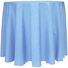 Ultimate Textile Reversible Shantung Satin - Majestic 60-Inch Round Tablecloth Sky Light Baby Blue
