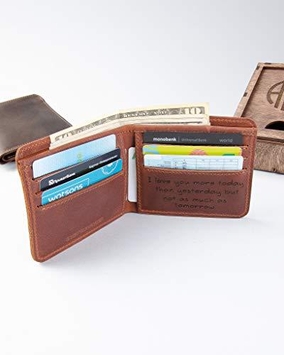 Bifold Wallets for Men Slim christmas gift Front Pocket...
