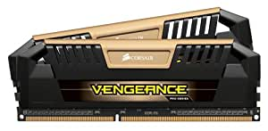 Corsair Vengeance Pro - Módulo de memoria XMP 2.0 de alto rendimiento de 8 GB (2 x 4 GB, DDR3, 1600 Mhz, CL9), dorado (CMY8GX3M2A1600C9A)