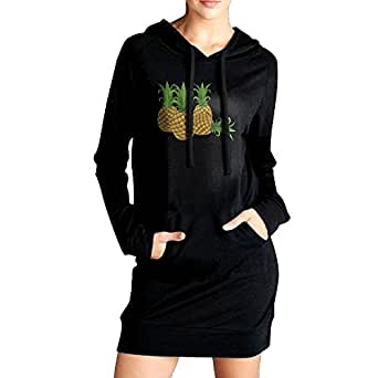Pineapple Fashionable Humor Graphic Hoodie With Long Sleeves Sweatshirt For Women