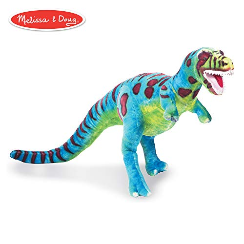 "Melissa & Doug T-Rex Giant Stuffed Animal, Wildlife, Bold Colors, Soft Polyester Fabric, Stands on Two Feet, 26"" H x 30"" W x 9"" L from Melissa & Doug"