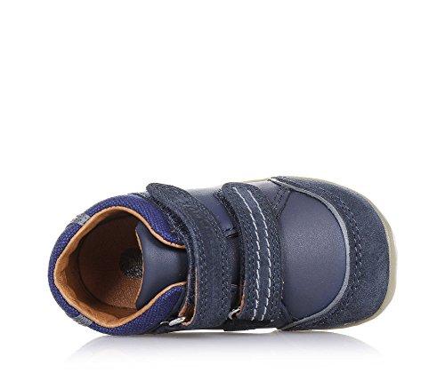 BOBUX - Chaussure bleue en cuir, suède et tissu, extrêmement flexible, qui permet une croissance sans restriction, garçon, garçons