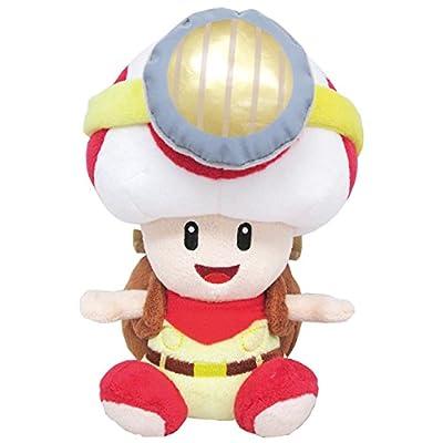 "Sanei Super Mario Series Sitting Pose Captain Toad Plush Toy, 6.5"": Toys & Games"