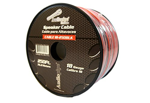 Audiopipe 18 Gauge 250 Feet Red Black Speaker Wire Stranded Copper Clad Aluminum - Aluminum Wire Stranded