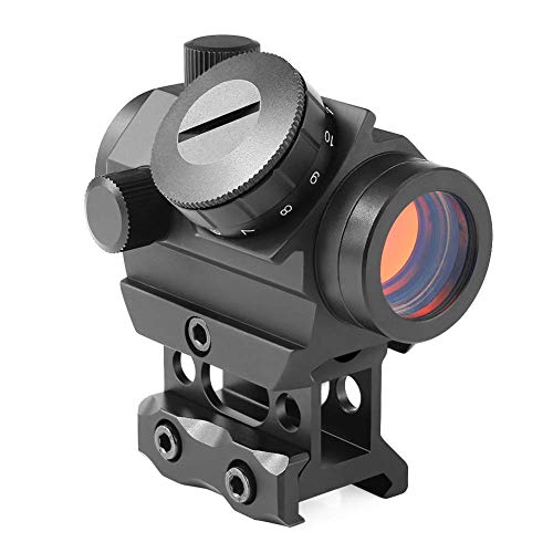 Feyachi Red Dot Sight 4 MOA Micro Red Dot Gun Sight Rifle Scope with 1 inch Riser Mount (Best Red Dot Sight Airsoft)