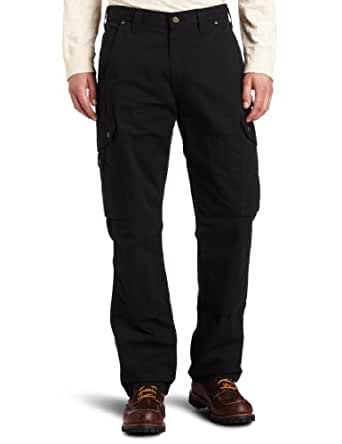 Carhartt Men's Cotton Ripstop Relaxed Fit Work Pant, Black, 28x30