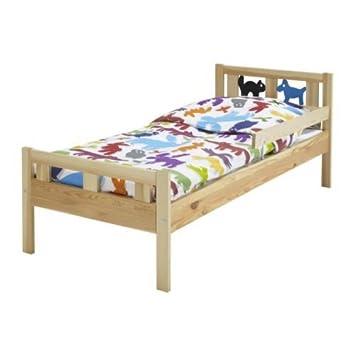 Ikea Cama Infantil KRITTER Estructura con somier de Madera Maciza de Pino: Amazon.es: Hogar