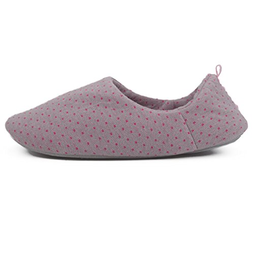 Light Indoor Anti Purple House Flammi Slip Slippers Women's Back Toe Shoes Cotton Sole Closed amp; OqwwTp