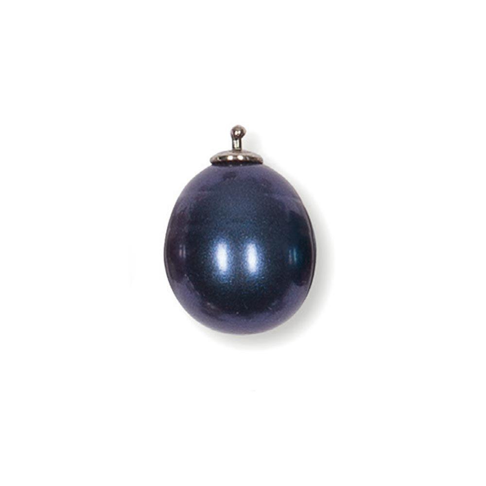 HEIDE HEINZENDORFF Einhängerpaar Barocktropfen Perle Blue Medium, 11 x 16 mm H22E1146-si