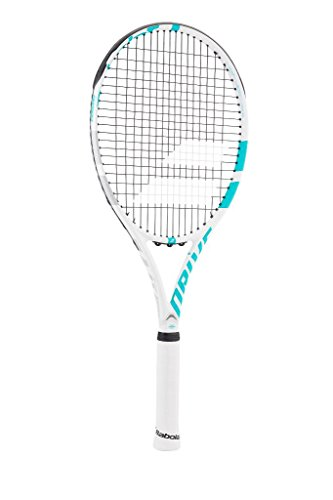 Babolat Drive G Lite Wimbledon Limited Edition Recreational Tennis Racquet (4″ Inch Grip) Strung with Pink String (Lightweight and Well Balanced Racket)