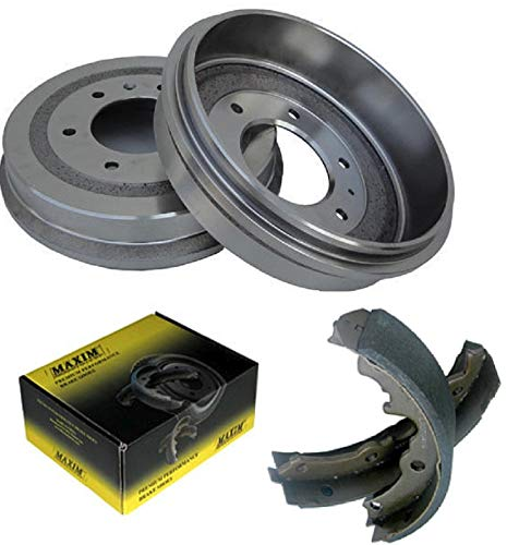 Rear OE Spec Quiet Technology Drums and Perfect Fit Premium Brake Shoes BK50119 | Fits: Apollo Skylark Camaro Chevelle Chevy II El Camino G10 Van Malibu Monte Carlo Nova G1000 Series G15/G1500 Van G15 ()