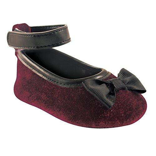 luvable-friends-girls-ankle-strap-velvet-ballet-flat-burgundy-0-6-months-m-us-infant