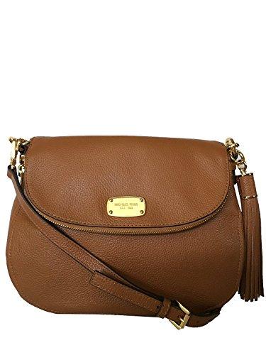 Michael Kors Brown Medium Bedford Tassel Crossbody Leather Bag