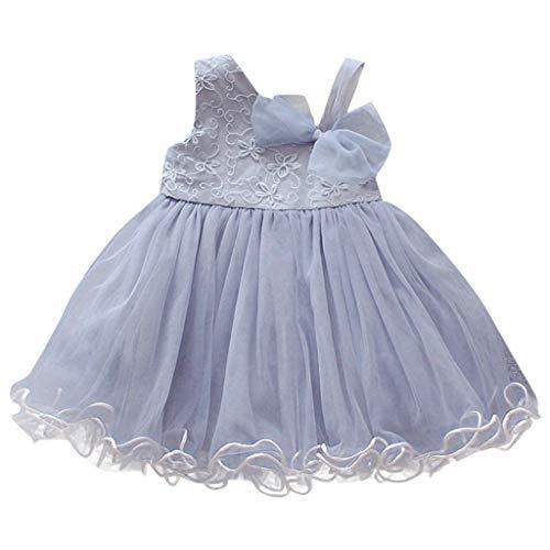 Romance8 Tutu Baby Girl, Baby Sleeveless Solid Tulle Skirt Princess Dress Light Blue