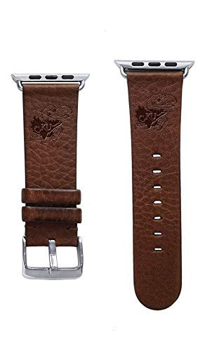 Affinity Bands University of Kansas Jayhawks Top Grain Oil Tanned Leather Band Compatible with Apple Watch - Available in Three Leather Colors - Band ONLY ()