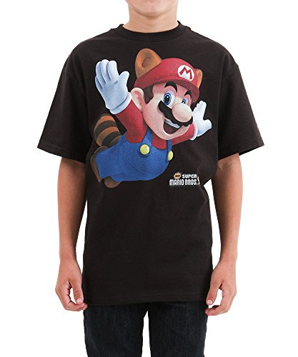 Mario Suit (Boys Mario Raccoon Suit T-Shirt Medium)