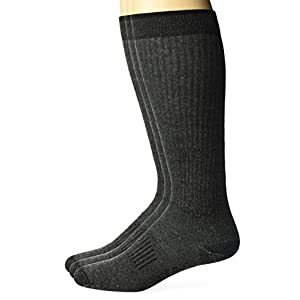 Wrangler Men's Lightweight Ultra-Dri Boot Socks 3 Pair Pack, Black, Sock Size:10-13/Shoe Size: 6-12
