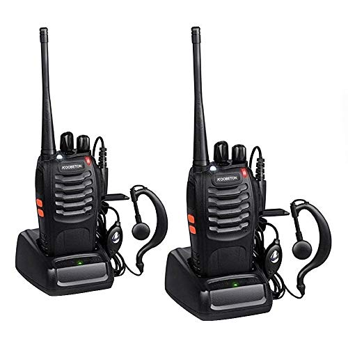 KOOBETON Walkie Talkie, KT-888S Two Way Radios Built in LED Torch for Camping Hiking Hunting Travelling Communication Walkie Talkies (2pcs Pack) (The Hunter Call Of The Wild Animals)