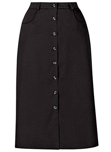 A-Line Button-Front Skirt - Flat Front Petite Skirt