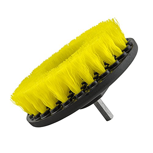 - Chemical Guys Acc_201_Brush_MD Medium Duty Carpet Brush with Drill Attachment, Yellow