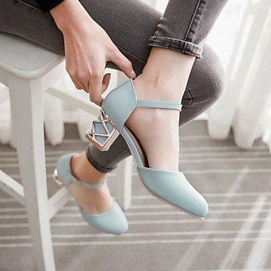 Le donne sexy elegante sandali donna tacchi Primavera Estate Autunno altri PU Office & Carriera Party & abito da sera Chunky Heel altri blu viola Rosa Bianco Beige altri , bianco , noi10.5 / EU42 / uk
