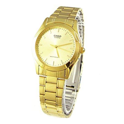 Casio Men's Steel watch #MTP-1275G Casio Gold Bracelet