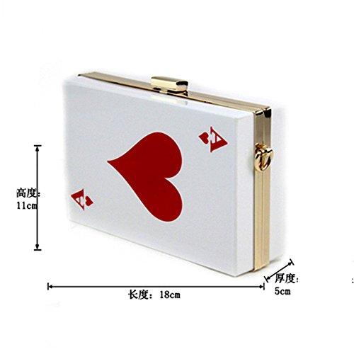 Poker À Embrayage Orfila De Mariage du Épaule Nuptiale Partie Main Sac Red Soir Acrylique Sac De fWCWFq
