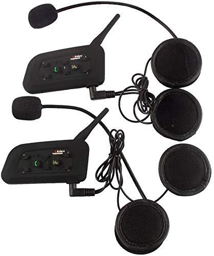 V6-1200 Meter Drahtlose Bluetooth-Sprechanlage Motorrad-Sturzhelm Bluetooth Intercom Wasserdicht Winddicht Headset im…