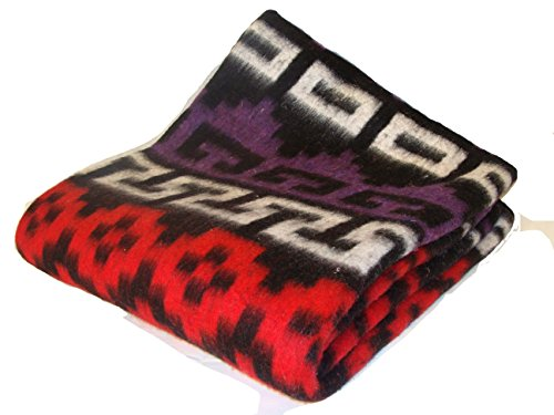 Alpaca Wool Acrylic Blend Recycled Fibers Blanket - Beautiful, Warm, Bright and Comfortable Peruvian Blankets Sanyork Tm 000263