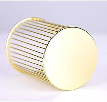 Bo/îte de rangement pour fournitures de bureau Leeyyo Convient pour les /étudiants ou les pinceaux de maquillage dor/é 1 pot /à crayons rond en fer