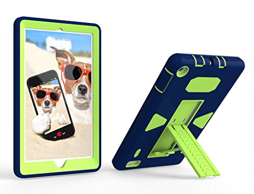 Bear-Motion-for-Fire-7-2017---Heavy-Duty-Impact-Resistance-Kids-Friendly-Kickstand-Case-for-Amazon-Fire-7-2017-7th-Generation-Green