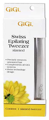 GiGi Slanted Tweezer for Ingrown Hair and Stubble Removal