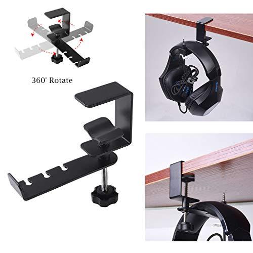 33' Black Utility Cart - Eoeth Big Sale!Headphone Stand Hanger Mount 360° Rotatable Metal Earphone Hook Adjustable Clamp