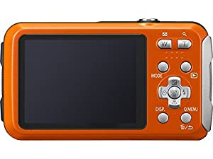 Panasonic DMC-TS25 Waterproof Digital Camera with 2.7-Inch LCD (Orange) DMC-TS25D (Certified Refurbished) from Panasonic