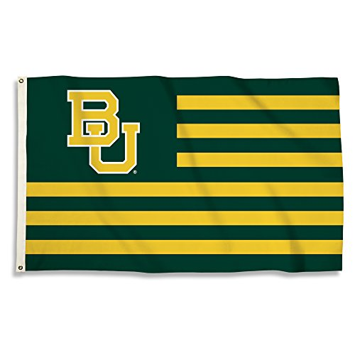 NCAA Baylor Bears 3 X 5 Foot Flag with Grommets, Green, One Size