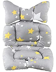 Infant Car Seat, Baby Stroller Liner Head and Body Support Pillow, Infant Seat Pad Neck Support Cushion for Toddler, Star