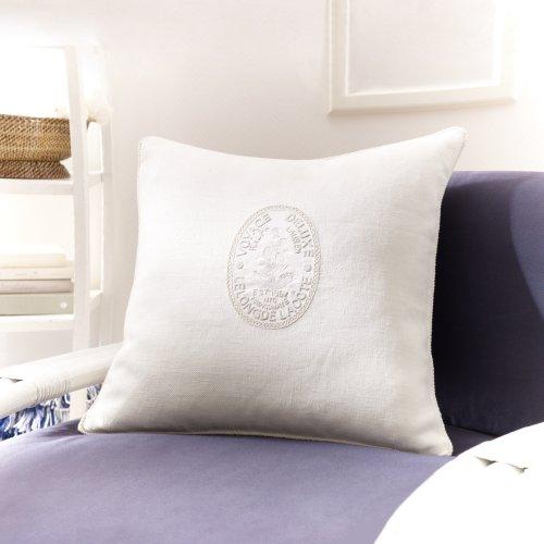 Ralph Lauren Ainslie 20 X 20 Throw Pillow in Cream 100% Cotton