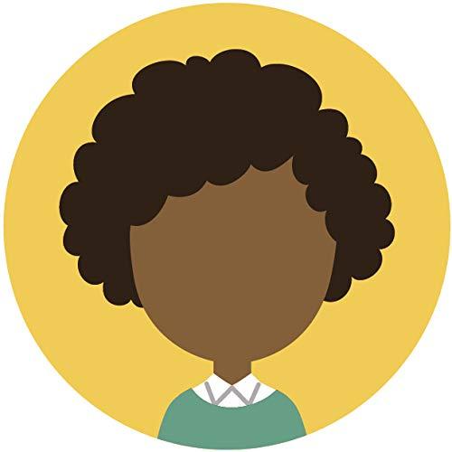 Simple Professional Cartoon Profile Portfolio Picture Icon Emoji Vinyl Sticker 4 Wide Curly Black Hair Woman Yellow Amazon In Car Motorbike
