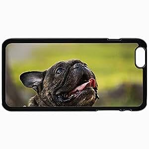 Fashion Unique Design Protective Cellphone Back Cover Case For iPhone 6 Case French Bulldog Black